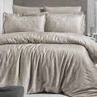 Луксозен спален комплект памучен сатен, жакард - LAMONE TOPRAK