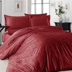 Луксозен спален комплект памучен сатен, жакард - TRUDY KIRMIZI