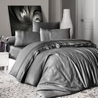 Луксозен спален комплект памучен сатен Deluxe - SQUARE STYLE FUM