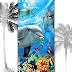 3D Плажни кърпи Summer - Делфини
