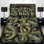 3Dспално бельо с животни - Змии