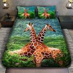 3Dспално бельо с животни - Жирафи