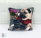 Декоративнa Възглавница Куче с Кафе