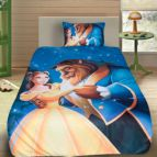 Детско 3D спално бельо - Красавицата и звяра