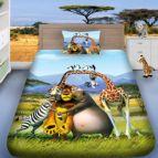 Детско 3D спално бельо - Мадагаскар