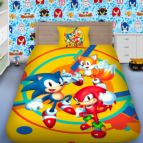 Детско 3D спално бельо - Соник