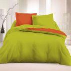 Спално бельо Ранфорс Зелен - Оранж
