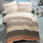 Семеен спален комплект памучен сатен - Диана