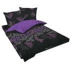 Спално бельо памучен сатен - Виктория лилава