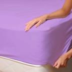 Чаршаф с ластик от Трико - бледо лила