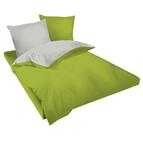 Двулицев спално бельо Ранфорс зелено-сиво