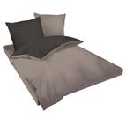 Двулицев спално бельо Ранфорс сиво-черно