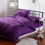 Едноцветно спално бельо - Лила