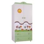 Детски гардероб с апликация Градинка