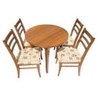 Трапезна маса кръгла РОСИ + 4 стола ИНА