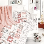 Бебешко спално бельо-Бамбук и одеяло - Зоопарк