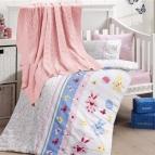Бебешко спално бельо с одеяло бамбук - SWEET TOYS PEMBE