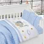 3D Бебешко спално бельо-Бамбук - Kity Blue