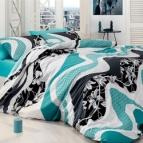 Спално бельо WAVE TURKUAZ