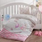 Бебешки к-т с олекотена завивка - Слонче Розов