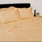 Спален комплект с бродерия - Цветна вълна III