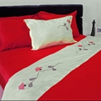 Спален комплект с бродерия - Цветна вълна II