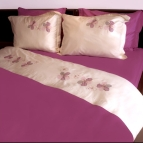 Спален комплект с бродерия - Цветя II