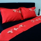 Спален комплект с бродерия - Цветя I