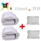 Комплект 2 олекотени завивки + 2 възглавници - Карбон