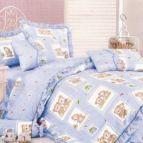 Бебешко спално бельо - Теди-синьо