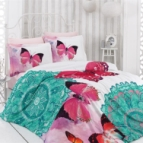 3D Спално бельо памучен сатен - КАРИНА