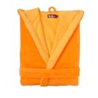 Халат за баня с качулка  Double face - м. оранж-жълт