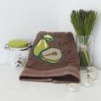 Кухненска кърпа с бродерия Круша КАФЯВ