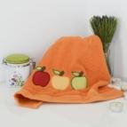 Кухненска кърпа с бродерия Ябълка ОРАНЖЕВ