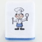 Кухненска кърпа с бродерия  СИН ГОТВАЧ