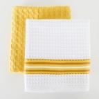 Комплект вафлени кърпи Лайн / Скуеър 2 бр. ЖЪЛТ