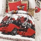 Юношеско спално бельо Роувър - червен