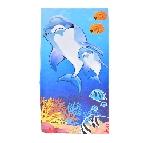 Плажна кърпа - семейство делфини