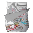 Спално бельо дигиталния печат - Винтидж колело