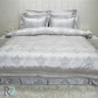 Луксозно спално бельо с дантела КАЛИОПА силвър