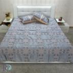 Кувертюра - АЛБА сиво с две декоративни възглавници