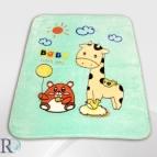 Бебешко одеяло - Жирафче в резеда
