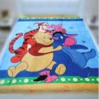 Детско одеяло Мечо Пух в синьо