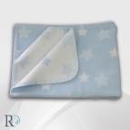 БЕБЕШКО памучно одеяло - Синьо на звездички