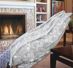 Одеяло памук - Орнаменти в сиво