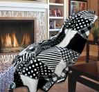Одеяло памук - Пачуърк черно и бяло