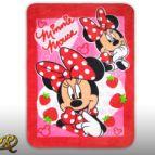 Бебешко одеяло мик бръш Мики Маус с ягода