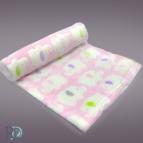Бебешко одеяло - розово на слончета