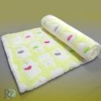 Бебешко одеяло - жълто на слончета