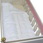 Памучна олекотена завивка за бебе - бяла